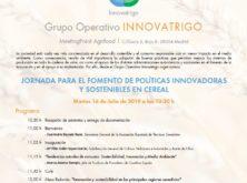 La AETC organiza una Jornada para el Fomento de Políticas Innovadoras y Sostenibles en el Cereal